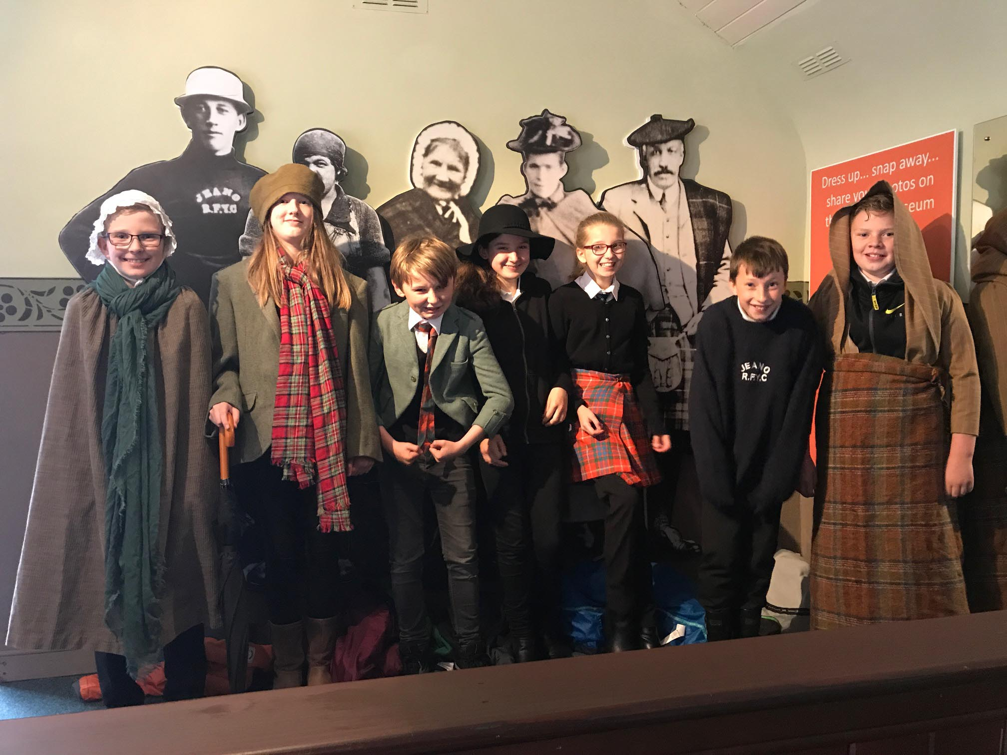Volunteer - Ullapool High School - S1 kids dressing up